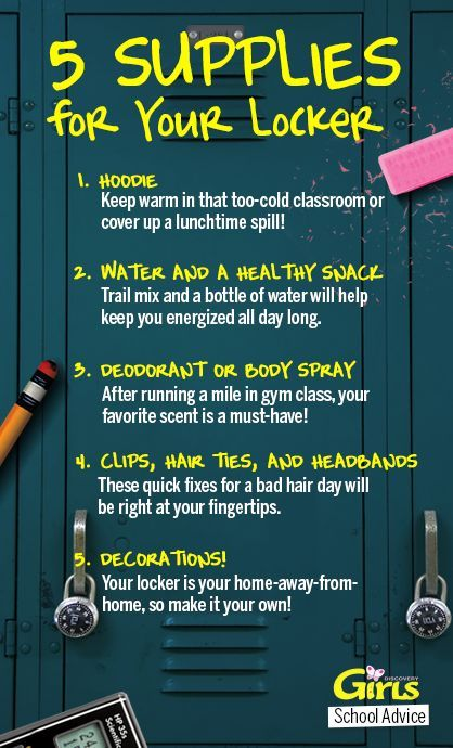 5 Necessary supplies for a school locker! #SchoolAdvice - For Renesmee starting middle school