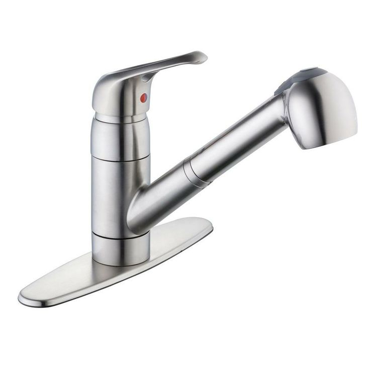 Glacier Bay Builders Single Handle Kitchen Faucet In Stainless Steel : Glacier bay kitchen series single handle pull out sprayer