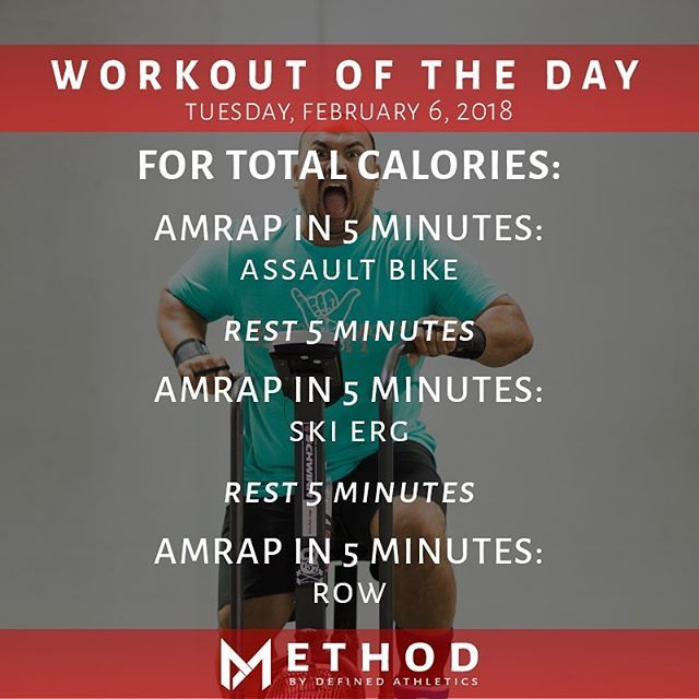 Workout Of The Day February 6 2018 For Total Calories Amrap In 5