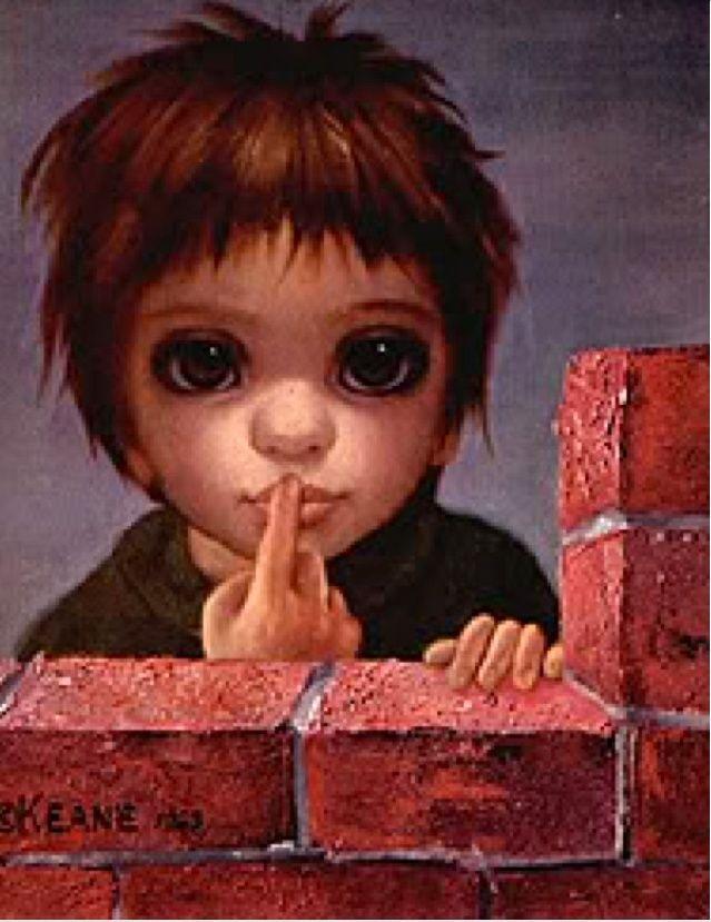 The Whisper (1963) Margaret Keane | KEANE EYES GALLERY