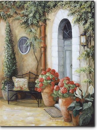 The Entry - The Entry Romantic Print ( Giclee ) by Mary Kay Crowley from Cottages and Gardens