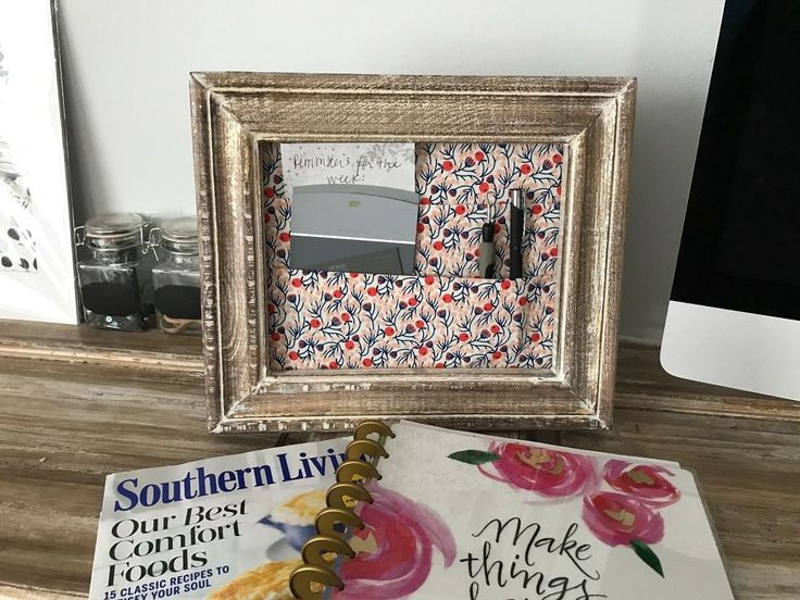 How an extra picture frame will make you even more organized