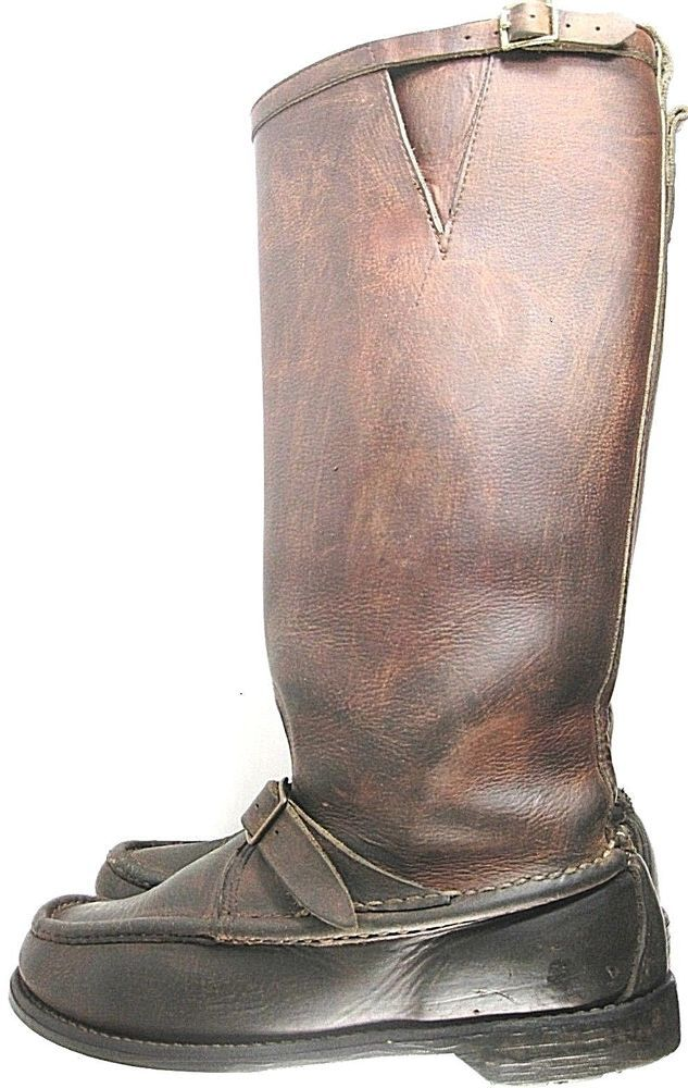 English Hunting Riding Tall Men Leather Boots Size 9MBrown Made USA. YYY 9 #Unbranded #RidingEquestrian