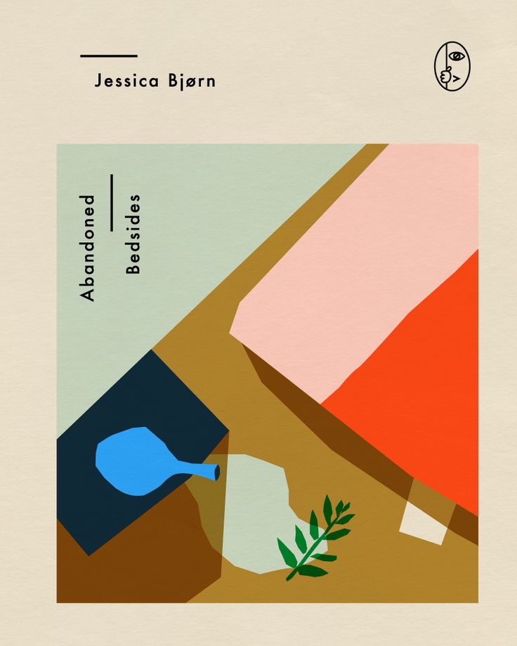 Cover design for Abandoned Bedsides, a crime novel by Anna Kövecses #Retro #linear #colors