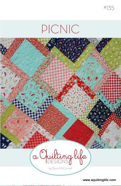 Picnic Quilt Pattern PDF by SherriQuilts on Etsy https://www.etsy.com/au/listing/285323091/picnic-quilt-pattern-pdf