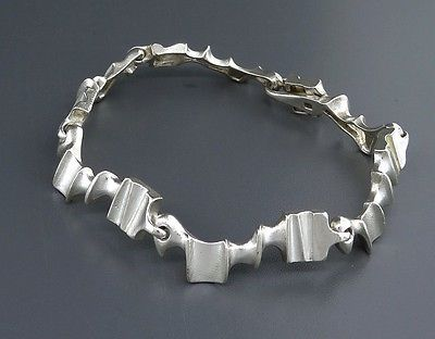 "Björn Weckström for Lapponia Jewelry, Sterling silver ""Caravan"" modernist bracelet, 1985. #Finland #modernist #ebay | finlandjewelry.com"