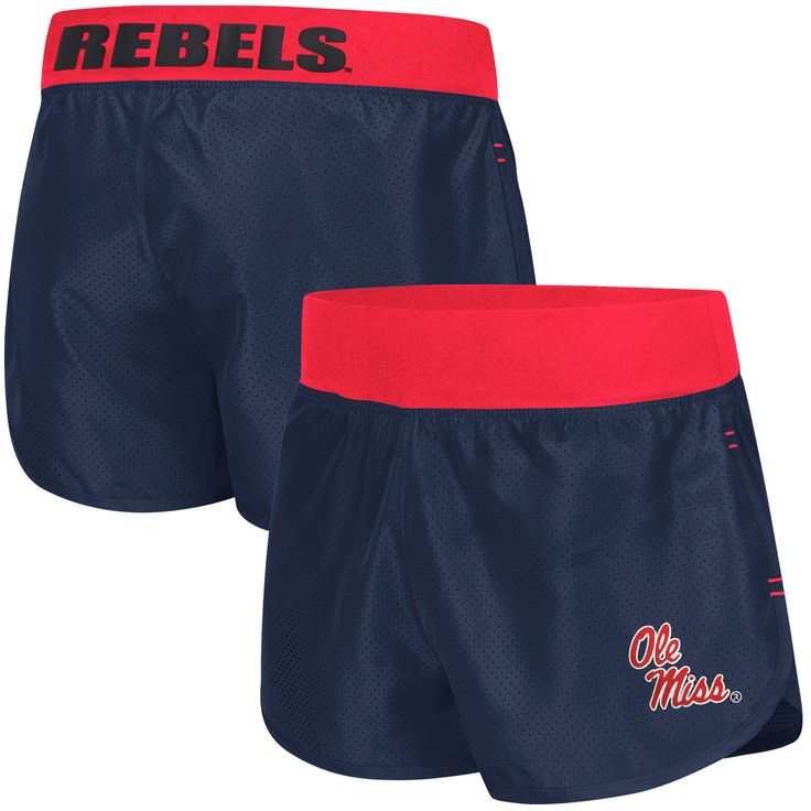 Women's Navy Blue Ole Miss Rebels Sprint Compression Shorts