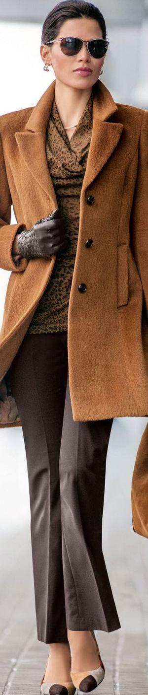 Madeleine Cognac Wool Coat
