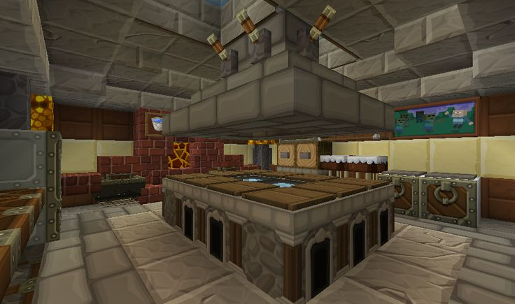 Minecraft kitchen 1st view minecraft pinterest for Kitchen ideas minecraft