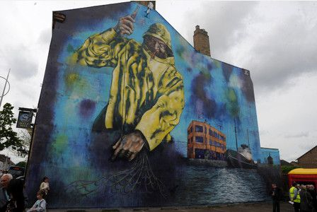 """It was the day that """"City of Culture came to Hessle Road"""".     These beautiful murals, which depict this proud corner of Hull's deep fishing history, were unveiled to the adoration of..."""