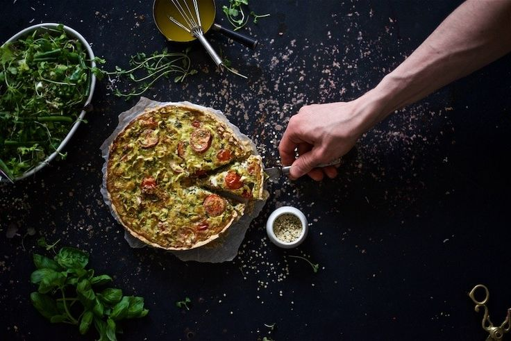 Italian Vegetable Pie + Green salad + Lemon vinaigrette by Yellow Mood Kitchen. All gluten-free and dairy-free!