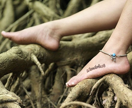 Wanderlust bohemian tattoo- Not a big fan of tats, but I actually like this location and design.