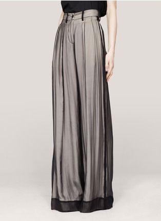 Ann Demeulemeester  Layered wide-leg silk pants