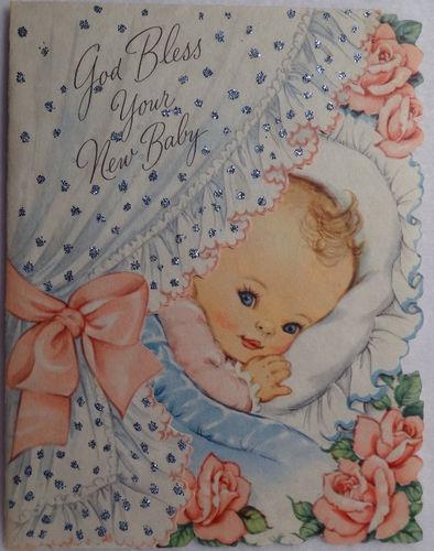 Гифка, открытки новорожденным на английском