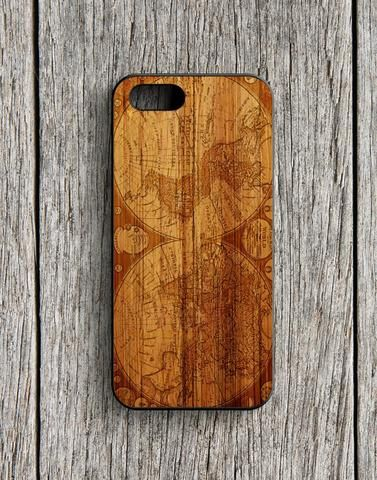 Worl Map Old Wood Design iPhone 5 | 5S Case