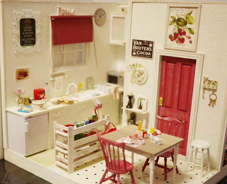 Картинки от кухни домика кукол