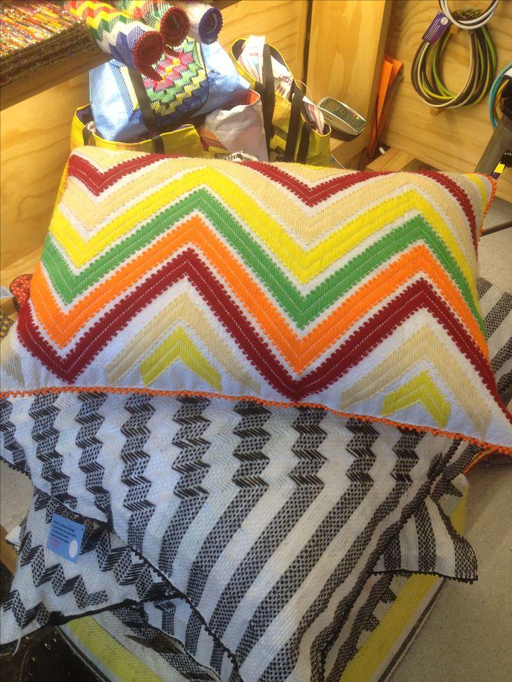 Langazela Recycled Mealie/Corn Embroidered cushion covers - gavin@africaignite.co.za