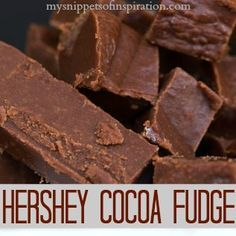 Here's an easy and super tasty fudge recipe! With step by step picture, this is simple to follow and make some amazing fudge! This is the orginial Hershey's cocoa fudge recipe!