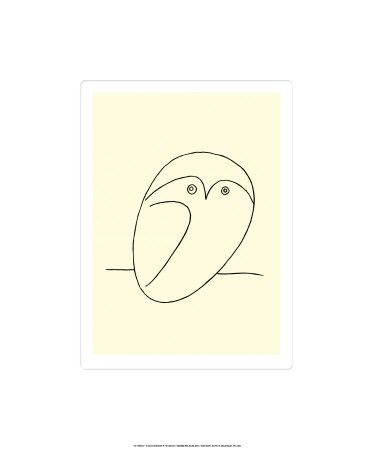 Owl line drawing by Picasso