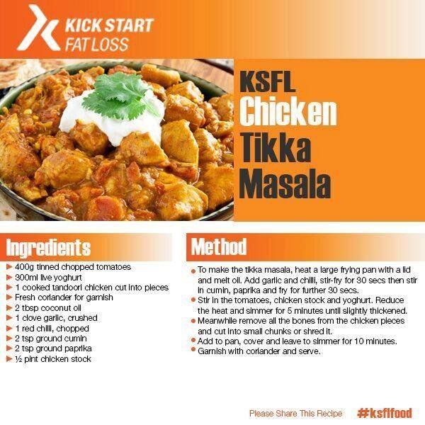 """Kick Start Fat Loss on Twitter: """"Fancy a CURRY? This is possible on #KSFL try this lovely #KSFL Chicken Tikka Masala recipe. https://t.co/h7QzHAq1qD"""""""