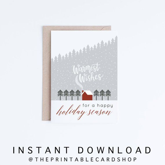 photo about Happy Holidays Printable Card referred to as Printable Vacation Playing cards, Joyful Vacations Electronic Playing cards
