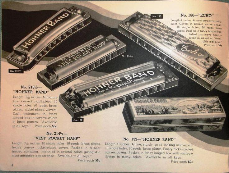 Hohner 1936 catalog