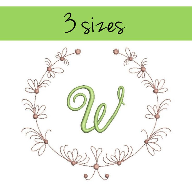 Embroidery machine designs Frame circle monogram digital instant download pattern hoop pes file t-shirt spring towel by SvgEmbroideryDesign on Etsy