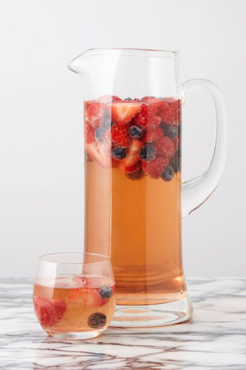Strawberries, raspberries, and blueberries meet rosé in this crisper, totally refreshing alternative to classic red sangria. Get the recipe: Triple Berry Sangria