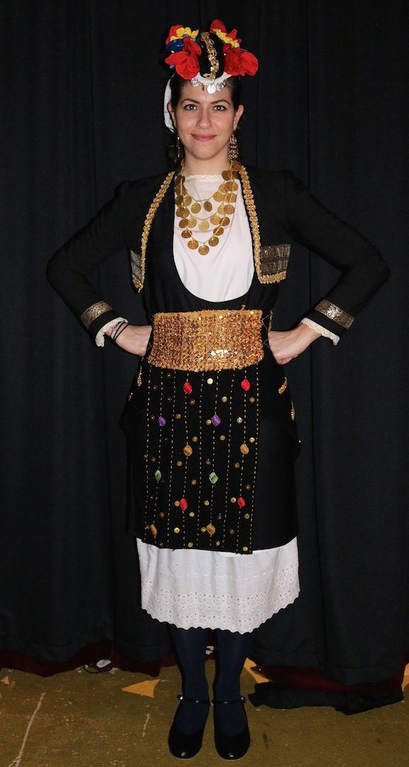 Another variation of the women's traditional Greek folk costume of Gidas, Roumlouki, #Macedonia #greece
