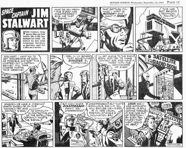 BRUCE CORNWELL'S FORGOTTEN SPACE CAPTAIN : JIM STALWART by Jeremy Briggs Artist Bruce Cornwell joined the Hampson Studio in 1950 an...