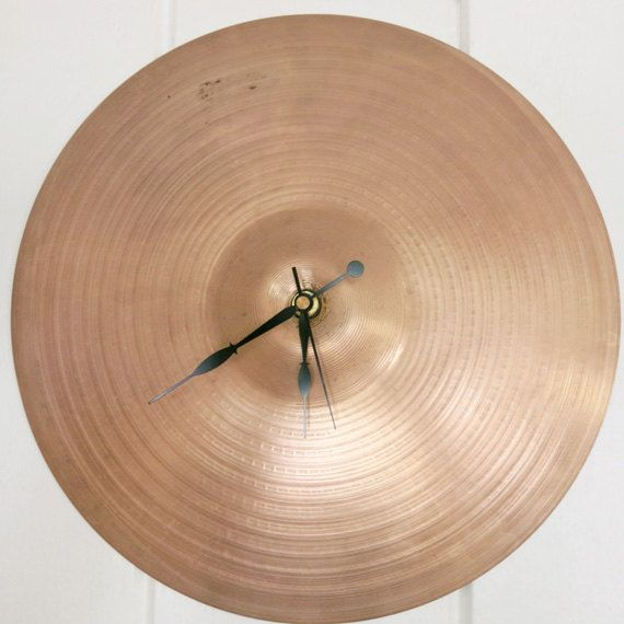 Cymbal Wall Clock Drummer Gifts Recycled Cymbal Boyfriend Gift Unique Wall Clocks - For Father, Husband, Brother Gift
