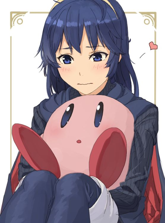 lucina and kirby super smash bros art pinterest