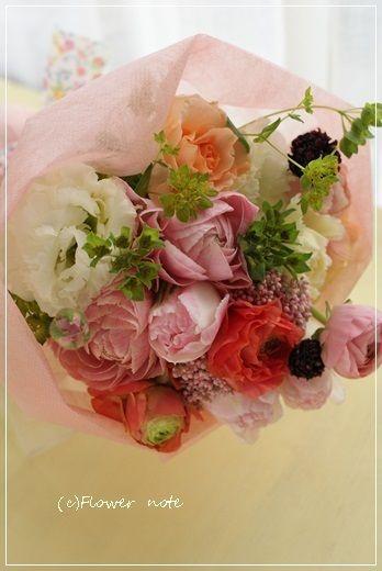 【今日の贈花】花束いろいろ♪どれが好き? Flower note の 花日記