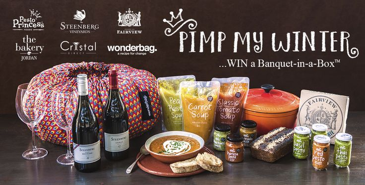 Pesto Princess has just launched a soup range and 'cos they want you to share in their celebration, they're running this cool competition where you can win yourself a Banquet-in-a-Box™  #pimpmywinter.