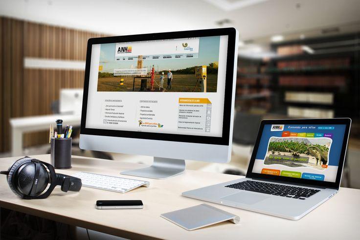 Diseño Sitio Web ANH implementado en Sharepoint y Diseño Sitio Web ANH para niños