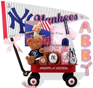 http://www.gotobaby.com/ – NY Yankees Radio Flyer Wagon gift set is available for girls at Go To Baby, even little girls dream of becoming a Future Baseball Star!
