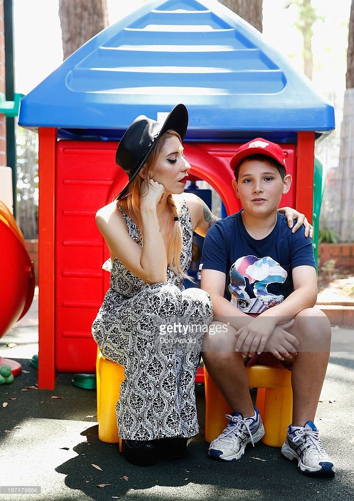Jessica Origliasso and Hunter Lawson pose at Ronald McDonald House on McHappy Day November 7, 2013 in Sydney, Australia. The Veronicas are helping to raise funds for Ronald McDonald House, a charity that assists families with children who are seriously ill.