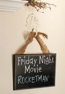 For Our Movie Themed Living Room...... good way to instigate an in home date night, or fun for future family evenings.