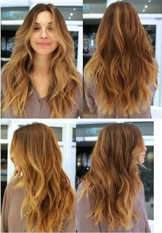 Image result for long wavy hairstyles layers at front