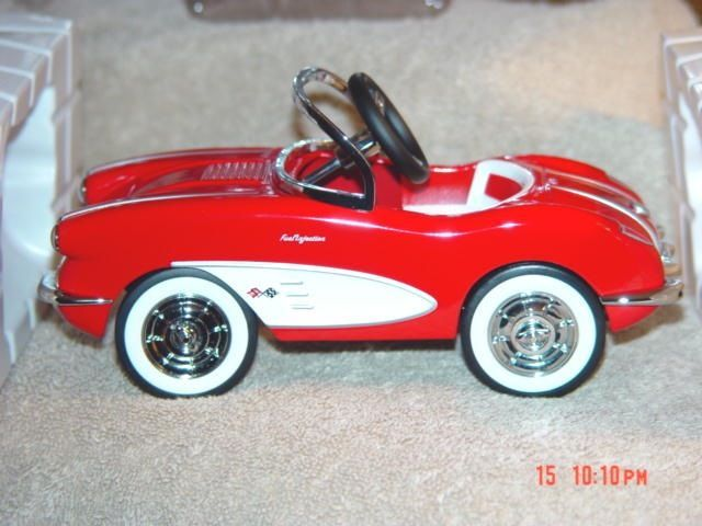 1958 custom corvette pedal car replica hallmarkkiddie car classics 195 on goantiques hallmark pedal cars pinterest pedal car cars and chevrolet