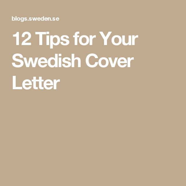 12 Tips for Your Swedish Cover Letter