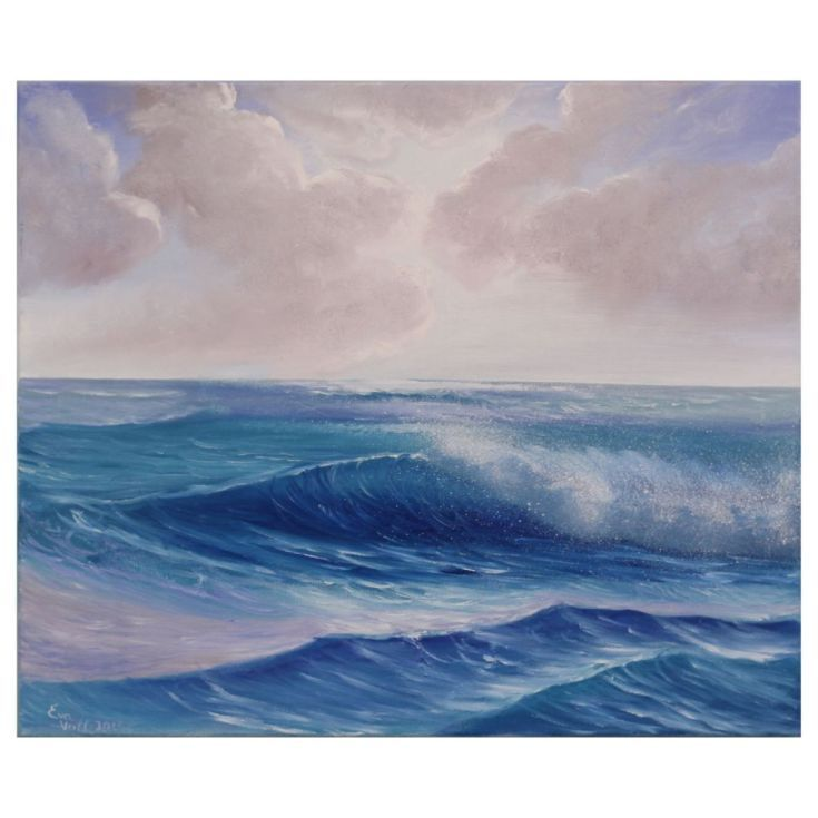 """Buy Atlantic Skies 20x24"""", Oil painting by Eva Volf on Artfinder. Discover thousands of other original paintings, prints, sculptures and photography from independent artists."""