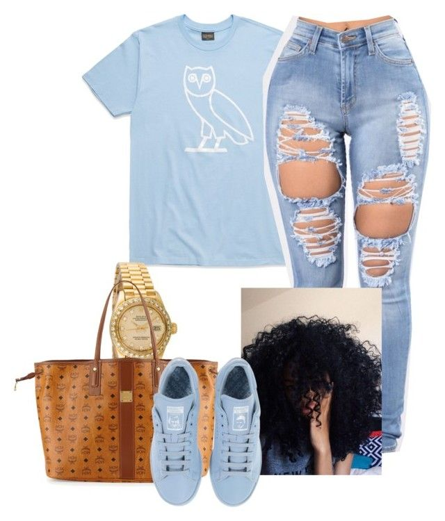 """""""{new toronto👅}"""" by wavy-chii ❤ liked on Polyvore featuring Rolex, MCM and adidas"""