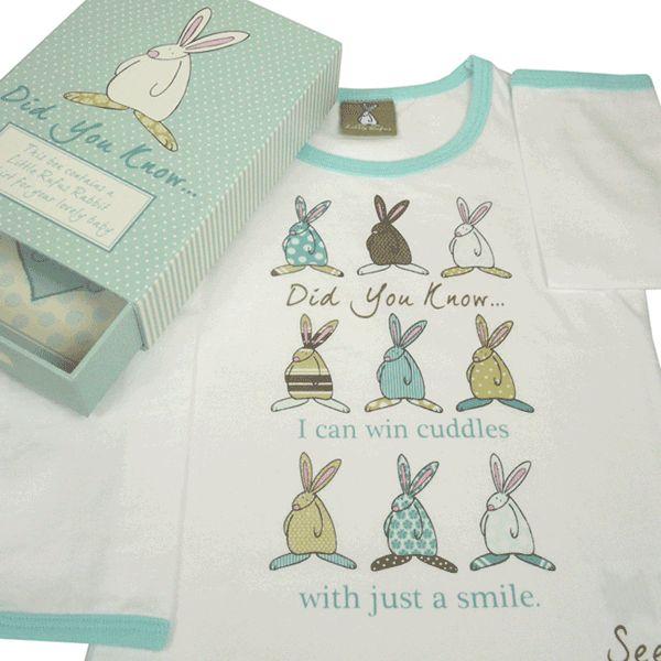 Rufus Rabbit økologisk t-skjorte gutt blå