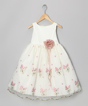 This Ivory & Rose Embroidered Floral Dress - Infant, Toddler & Girls by Kid's Dream is perfect! #zulilyfinds