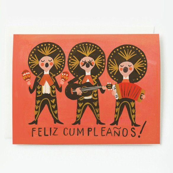 Feliz Cumpleaños Spanish Happy Birthday Card