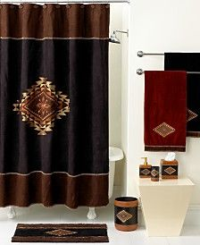 Avanti Bath Accessories, Mojave Shower Curtain - WHAT A GORGEOUS, RICH LOOKING SET.