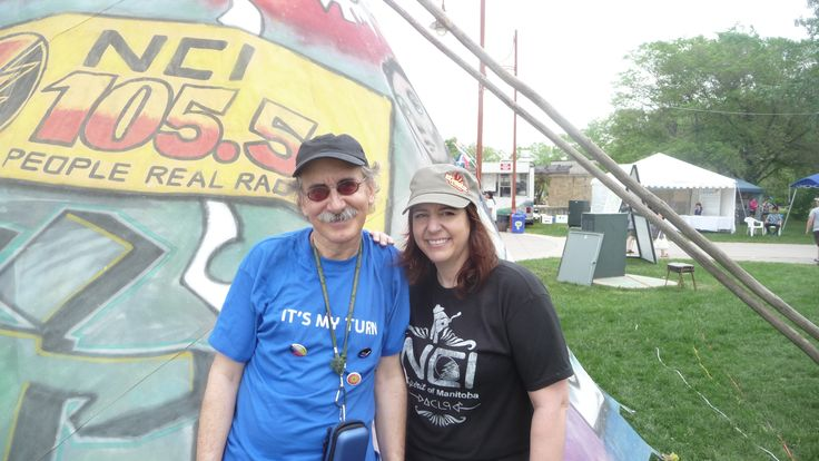 AlIx Michaels morning crew DJ at NCIFM at Aboriginal day Live 2013 at The Forks!