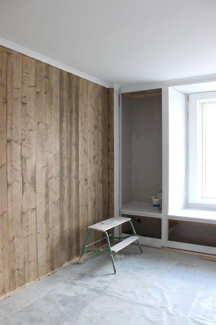 It's a house - en av Sveriges största inredningsbloggar: Panelvägg med järnvitriolkänsla