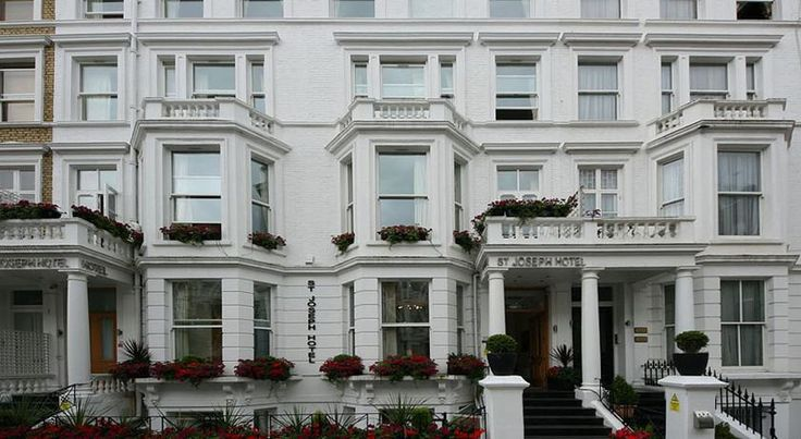 St Joseph Hotel London St Joseph Hotel is about 5 minutes' walk from Earl's Court Tube Station and Earls Court Exhibition Centre, and 15 minutes' walk from Olympia Exhibition Centre.  It has comfortable rooms and a 24-hour reception desk.